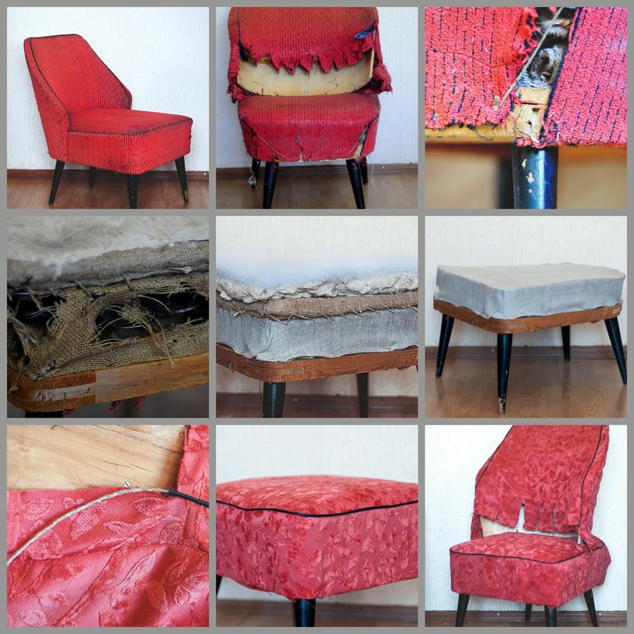 fotelio restauracija