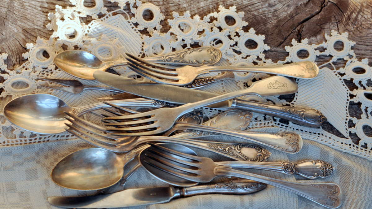 Senovinių Stalo įrankių Pirkti Tik Su Lupa Vintazo Zenklai