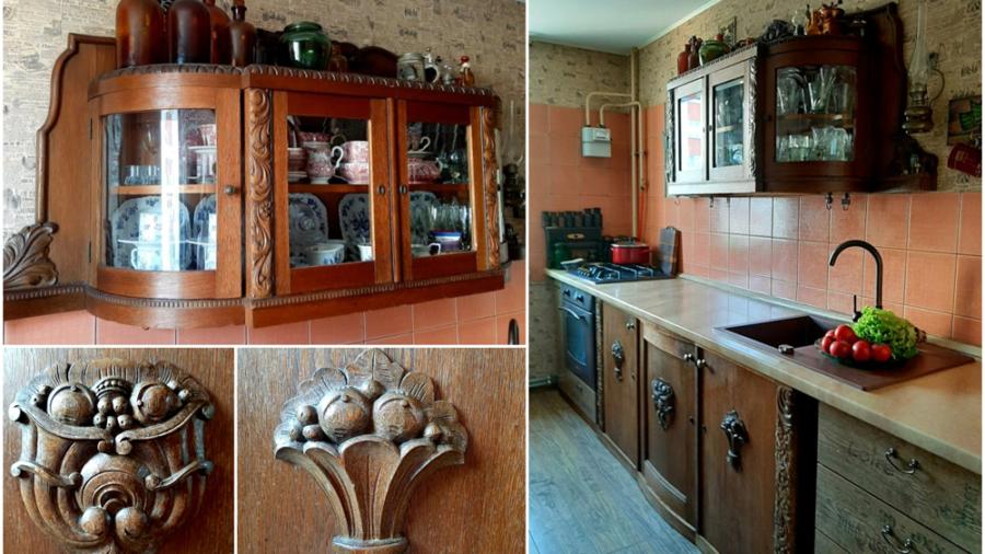 naudoti baldai virtuvėje